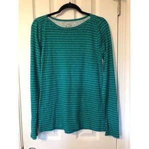 JCrew Evergreen Polka Dot Artist Longsleeve Shirt